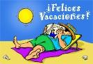 Tarjetas postales: Felices Vacaciones.