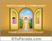 Tarjetas, postales: Virgen y Santos