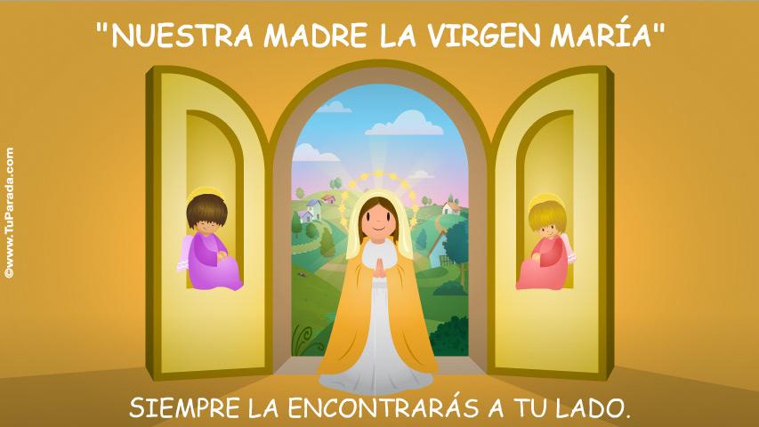 Tarjeta - La Virgen María