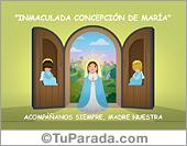 Tarjeta de Imágenes de la Virgen y los Santos