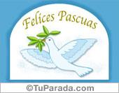 Pascua - Tarjetas postales: Paloma de pascua