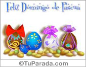 Tarjeta - Huevos de Pascua