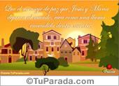 Pascua - Tarjetas postales: Que el mensaje de paz...