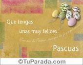 Tarjetas postales: Felices Pascuas con animación suave