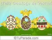 Tarjetas postales: Tarjeta con huevos de Pascua