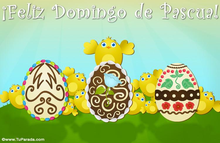 Tarjeta - Tarjeta con huevos de Pascua