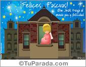 Tarjetas postales: Tarjeta de Pascua con ángel