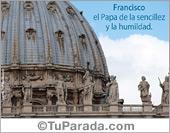 Tarjetas postales: Francisco, el Papa de la humildad