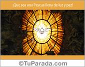 Tarjeta - Por una Pascua de luz y paz