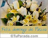 Tarjetas postales: Tarjeta con ramo para Pascua