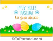 Tarjetas, postales: Tarjeta de Pascuas con abrazo