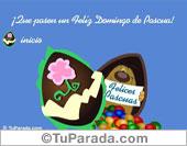 Tarjeta - Feliz Pascua para todos.