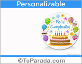 Tarjeta de cumpleaños para personalizar