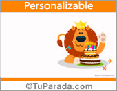 Tarjeta de cumpleaños con león