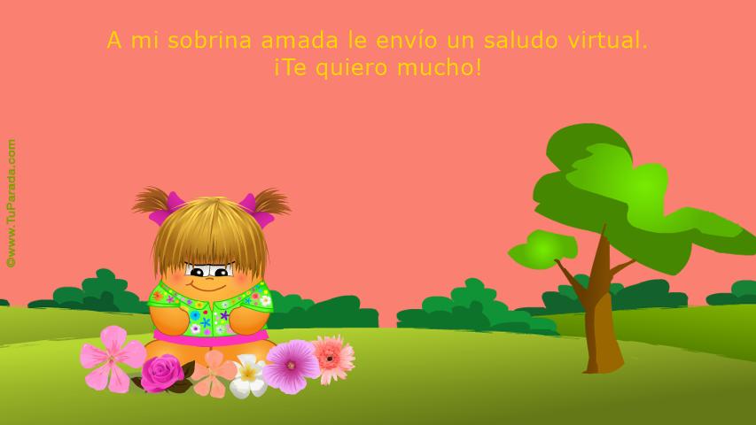 Para mi sobrina, Saludos, tarjetas