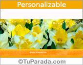 Flores en amarillo suave
