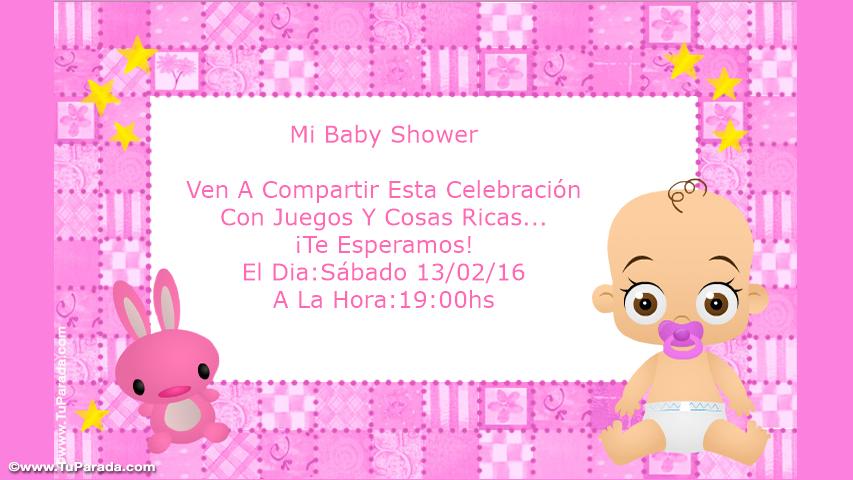 mi baby shower invitaciones tarjetas