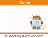 Customizable Teddy bear ecard