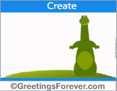 Dinosaur ecard