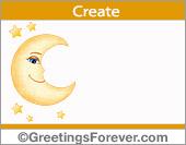 Ecard with moon