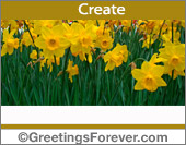 Ecard with yellow flowers