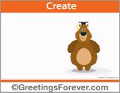 Graduation bear ecard