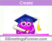 Ecard for a graduate in pink