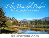 Día del padre - Tarjetas postales: Tarjeta día del padre con paisaje