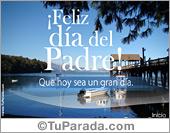 Tarjeta - Feliz día del padre con lago
