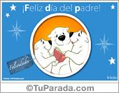 Día del padre - Tarjetas postales: Feliz día del padre
