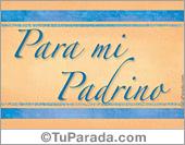 Tarjetas postales: Padrinos