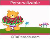 Osito con flores para el día de la madre