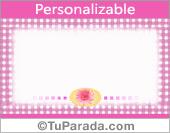 Tarjeta especial en lila