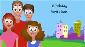 Ecards: Birthday invitation