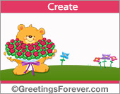 Bear with flowers for Mothers Day