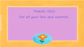 Ecards: Thank you for all