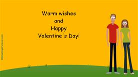 Ecards: Warm wishes on Valentine
