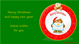 Ecards: Warm wishes and Merry Christmas