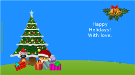 Ecards: Happy holidays with love