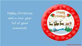 Ecards: Happy Christmas and good moments