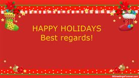Ecards: Best regards on holidays