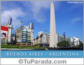 Tarjeta - Foto del Obelisco - Buenos Aires - Argentina