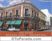 Tarjeta - Foto de San Telmo - Buenos Aires