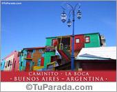 Tarjeta - Foto de Caminito - Buenos Aires