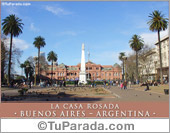 Tarjeta - Foto de la Casa Rosada - Buenos Aires