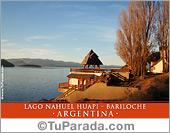 Tarjeta - Foto Lago Nahuel Huapi, Bariloche - Argentina