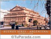 Tarjeta - Teatro Colón