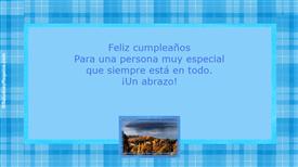Tarjetas postales: Un abrazo de cumpleaños