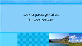 Tarjetas postales: Que la pasen genial
