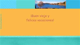 Tarjetas postales: Buen viaje y vacaciones